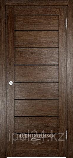 Межкомнатная дверь  Eldorf Мюнхен  (04) ДО остекление Лакобель черное