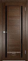 Межкомнатная дверь  Eldorf Берлин (06) ДО  остекление Лакобель черное