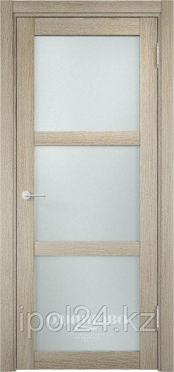 Межкомнатная дверь  Eldorf Баден (02) ДО остекление Сатинато