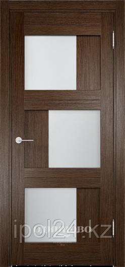 Межкомнатная дверь  Eldorf Баден (10) ДО остекление Сатинато
