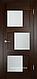 Межкомнатная дверь  Eldorf Баден (10) ДО остекление Сатинато, фото 2