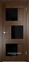 Межкомнатная дверь  Eldorf Баден (10) ДО остекление  Лакобель черное