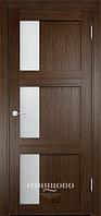 Межкомнатная дверь  Eldorf Баден (06) ДО остекление Сатинато