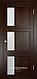 Межкомнатная дверь  Eldorf Баден (06) ДО остекление Сатинато, фото 2