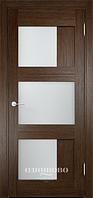 Межкомнатная дверь  Eldorf Баден (08) ДО остекление Сатинато