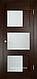 Межкомнатная дверь  Eldorf Баден (08) ДО остекление Сатинато, фото 2