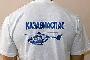 Печать на светлых футболках на ХБ основе