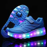 Роликовые кроссовки Aimoge LED Light Blue