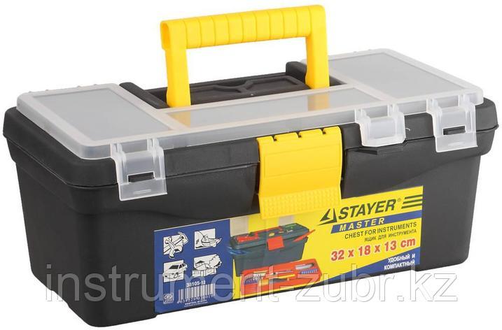 Ящик STAYER пластмассовый для инструментов, 32х18х13см, фото 2