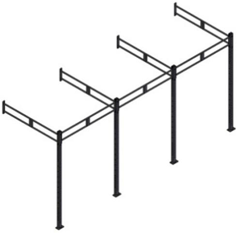 Рама функциональная с креплением к стене 5400*1800