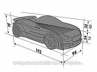 3D кровать машина EVO  Мерседес, фото 4