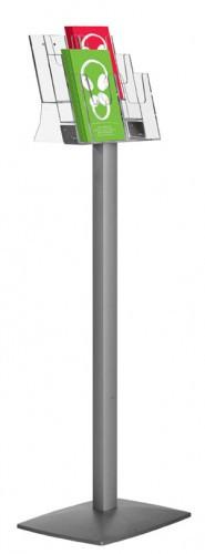 Напольная стойка PILLAR с объемными карманами, 3хА4
