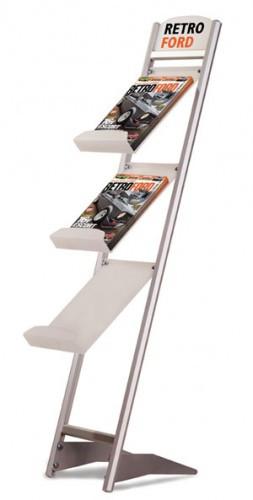 Напольная L-образная стойка для брошюр, цвет серебро (Rapid Brochure Set) 2хА4