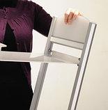 Напольная L-образная стойка для брошюр, цвет серебро (Rapid Brochure Set) 2хА4, фото 2