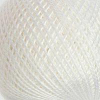 Нитки вязальные 'Ирис' 150м/25гр 100 мерсеризованный хлопок цвет 0101 (комплект из 10 шт.)