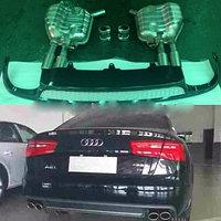 Диффузор с выхлопной системой Audi A6