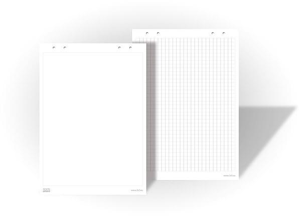 Блок бумаги для флипчарта 20 листов в клеткутые