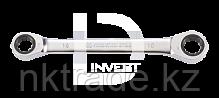 Ключ накидной двухсторонняя трещотка 17х19мм