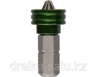 Бита для шуруповерта KRAFTOOL 26128-2-25-1, с магнитным держателем-ограничителем, тип хвостовика C 1/4, PH2