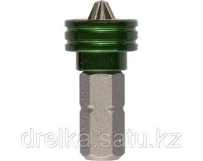 Бита для шуруповерта KRAFTOOL 26129-2-25-1, с магнитным держателем-ограничителем, тип хвостовика C 1/4, PZ2