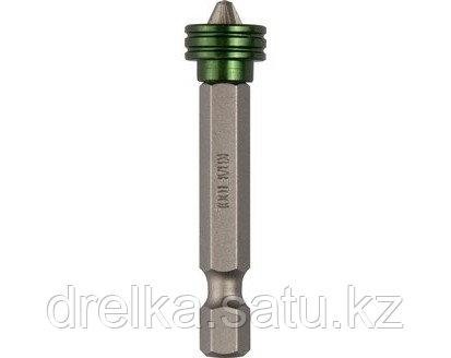Бита для шуруповерта KRAFTOOL 26129-2-50-1, с магнитным держателем-ограничителем, тип хвостовика E 1/4, PZ2