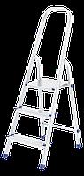 Стремянка, 3 ступеньки, из алюминия, СИБРТЕХ, 97713