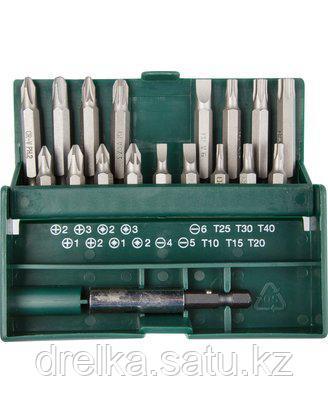 Набор бит для шуруповерта KRAFTOOL 26131-H18, биты с магнитным адаптером в бит-боксе, 18 предметов