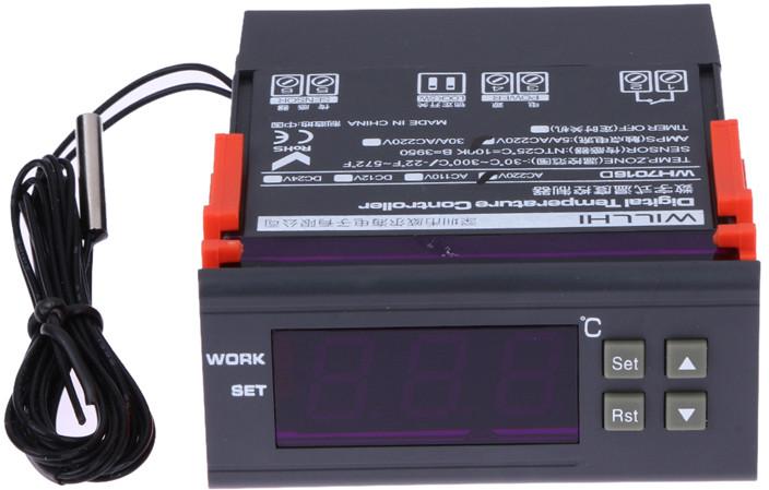 Терморегулятор WH7016D (-30°С ... +300°С, 5А)