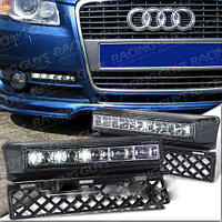 Рамки в бампер с ходовыми огнями LED DRL на Audi A4 B7