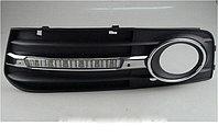 Рамки в бампер с ходовыми огнями LED DRL на Audi A4 B8 , фото 1