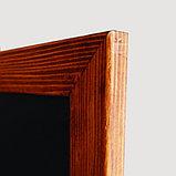 Деревянная доска с поверхностью для написания маркерами (Single Sided Wooden Frame) 600х800мм, фото 2