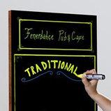 Деревянная доска с поверхностью для написания маркерами (Frameless Wooden Frame) 400х900мм, фото 3