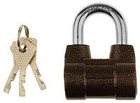 """Замок навесной ЗУБР """"МАСТЕР"""" облегченный, дисковый механизм секрета, ключ 7 PIN, дужка d-10мм, 60мм"""