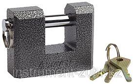"""Замок STAYER """"MASTER"""" навесной, П-образн.металлический корпус, с закаленной дужкой, в коробке, 80мм"""