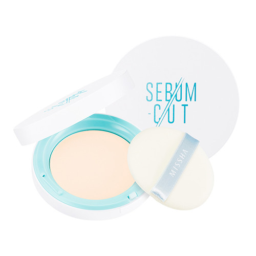 Компактная пудра для жирной кожи Sebum-Cut Powder Pact (Clear Peach)