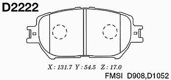 Тормозные колодки Toyota SP2037 Camry ACV30\35 2,4 2001-2007 передние