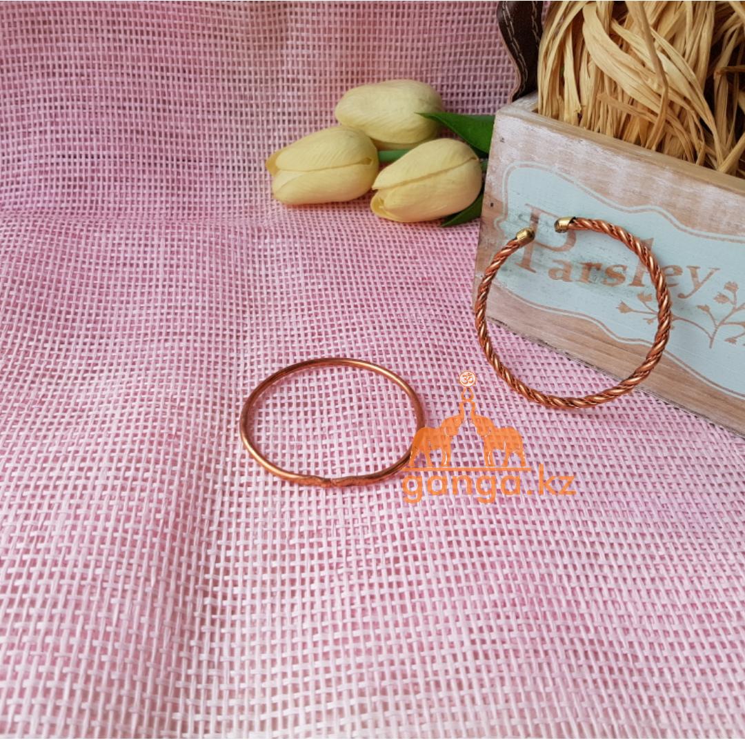 Медный браслет, браслет из меди и латуни (детский/подростковый), 1шт
