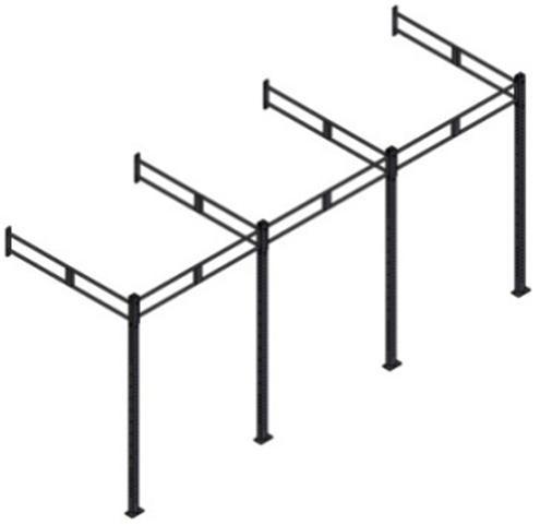 Рама функциональная с креплением к стене 7200*1800