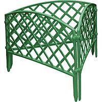 "Забор декоративный форма  ""Плетенка"", 24 х 320 см, цвет пластика зеленый, PALISAD, 65006"