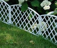 "Забор декоративный из пластика, форма ""Плетенка"", 24 х 320 см, цвет белый, PALISAD, 65021"