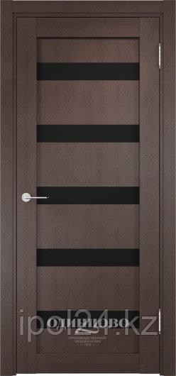Межкомнатная дверь  Casaporte Верона 06  ДО остекление триплекс Чёрный
