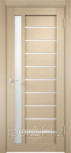 Межкомнатная дверь  Casaporte Ливорно 08  ДО остекление матированное Белое/Сатинато Люкс