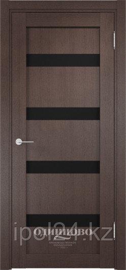 Межкомнатная дверь  Casaporte Верона 05  ДО остекление триплекс Чёрный