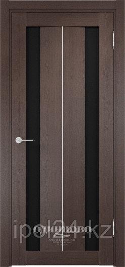 Межкомнатная дверь  Casaporte Сицилия 04 ДО остекление триплекс Чёрный