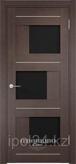 Межкомнатная дверь  Casaporte Сицилия 14 ДО остекление триплекс Чёрный