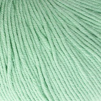Пряжа 'Baby Cotton' 60 хлопок, 40 полиакрил 165м/50гр (3425 мята) (комплект из 5 шт.)