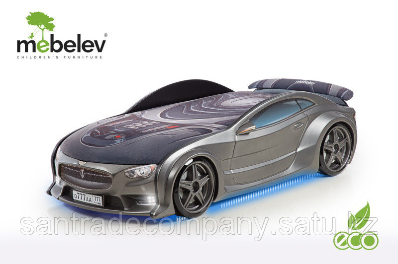 3D NEO кровать машина TESLA графит