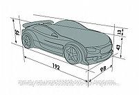3D NEO кровать машина TESLA графит, фото 2