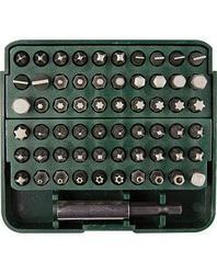 Набор бит для шуруповерта KRAFTOOL 26140-H61, биты с адаптером в пластиковом боксе, Cr-V, 61 предмет