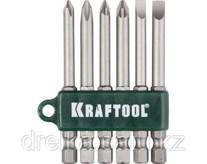 Набор бит для шуруповерта KRAFTOOL 26061-H6, хвостовик E 1/4, Cr-V, 75 мм, 6 предметов , фото 2